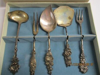 Five piece Antique sterling silver serving set  Reed and Barton
