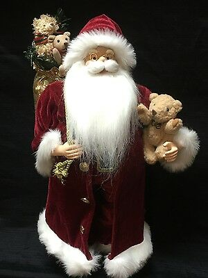 Santa Decoration. 60cm tall. Red. Traditional Father Christmas