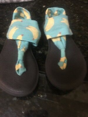 8f056822fed6   Sanuk Kids  Yoga Sling Sandals - Girls Size 13 1 Bananas
