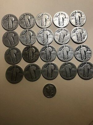 5.10 Face Silver Standing Liberty Quarters Bullion