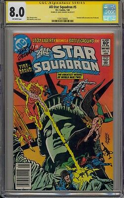 All-Star Squadron #5 - Signed By Jerry Ordway - Cgc 8.0 - 1571726005