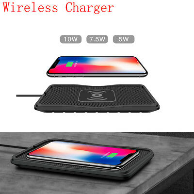 Car Dashboard Qi Wireless Phone Charger Holder Mount Non-Slip Pad Mat Silicone