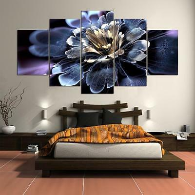 Abstract Digital Flower 5 pcs Canvas Wall Art Picture Printed Home Decor