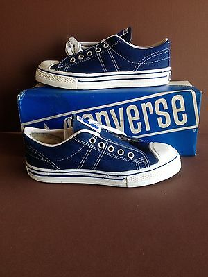 Converse, USA made, Navy Blue, Old Store Stock, in Original Box. Boys size 3 1/2