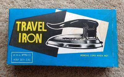 Wow! 1950s/1960s Vintage Folding Travel Iron with Original Box NOS!