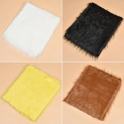 1pc Luxury Long Haired Pile Plush Faux Fur Fabric DIY Animal Toy Accessories