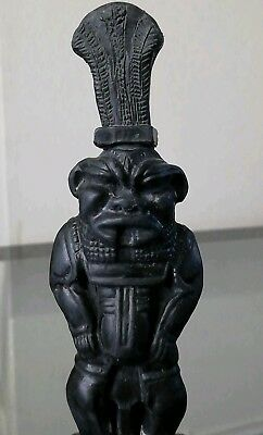Beautiful STATUETTE of the ANCIENT EGYPTIAN G*D BES, Sculpture, Fab Ornament