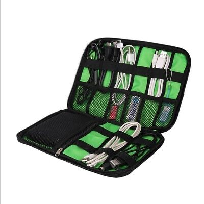 Travel Electronic Accessories Cable USB Drive Organizer Pouch Storage Bag Case