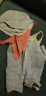 """Snoopy Outfit 1958 train driver For 18"""" Plush"""