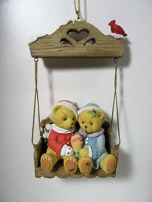 Cherished Teddies ~ SHARING A FROSTY...~ Swinging Through Life With You Ornament