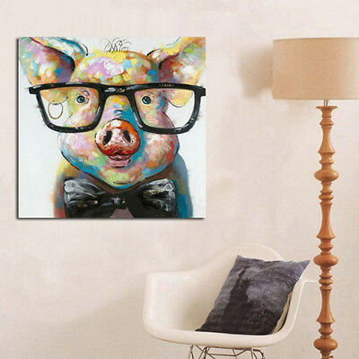 """YA491 Little pig 100% hand painted oil painting on canvas No Frame 20"""""""