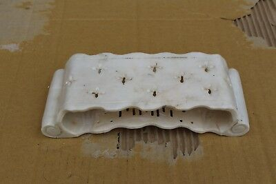 Big antique Chinese hand carved white jade pillow