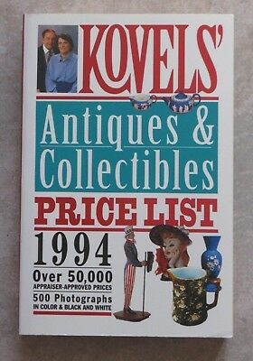 KOVELS' Antiques & Collectibles Price List 1994 (paperback, 1st edition)