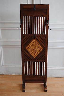 Vintage Arts & Crafts Style Timber Hat & Coat Hall Stand - Rustic Mud Room