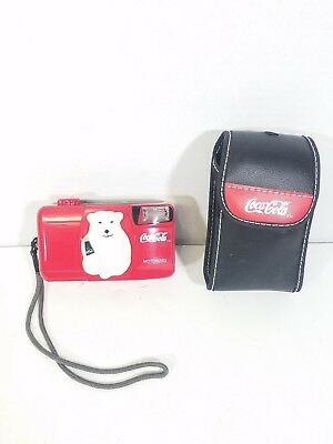 Vintage Coca Cola Polar Bear Coke 1999 35mm Camera With Case