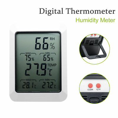LCD Digital Indoor Humidity Monitor  Temperature Thermometer Hygrometer Meter
