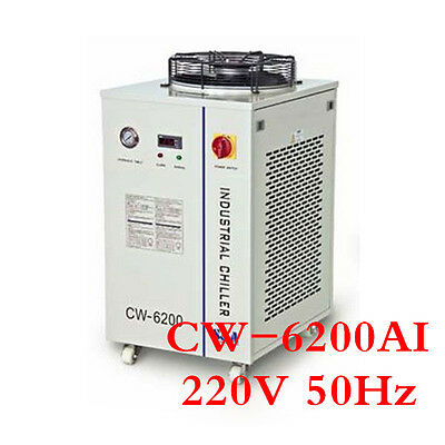 220V 50HZ CW-6200AI Industrial Water Chiller for Dual 200W CO2 Glass Laser Tubes