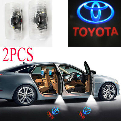 2× Welcome Laser Projector Car Door Led Logo Ghost Shadow Light For Toyota Camry