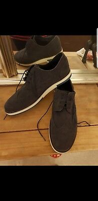 New Mens Navy Suede Brogues size 10