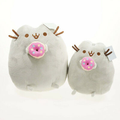 1*Soft Plush Stuffed Animal Doll Toy Pusheen Cat Eat Ice Cream Cake For Baby Kid