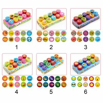 10pcs Children Self Inking Rubber Stamps Cartoon Seal For Scrapbooking Stampers