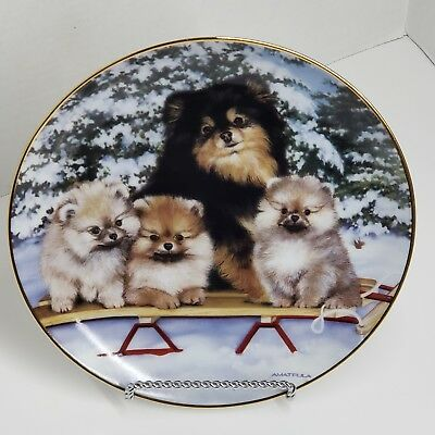 "Michele Amatrula Limited Edition ""Polar Poms"" Collector Plate#B5320 Danbury mint"