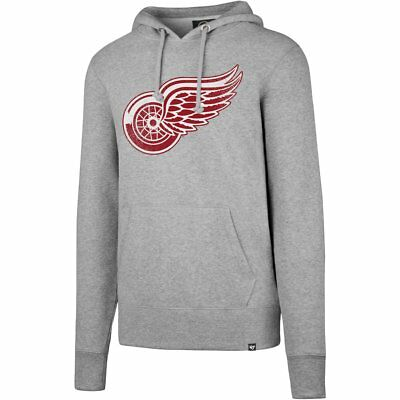47 Brand HEADLINE Hoody - NHL Detroit Red Wings grey