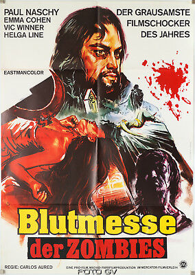 Original-Filmplakat: Blutmesse der Zombies/Horror Rises from the tomb Aured