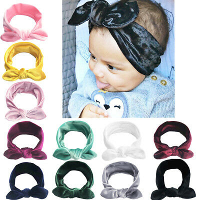 UK 11PCS Cute Baby Infant Girl Toddler Lace Velvet Headband Headwear Hair Band
