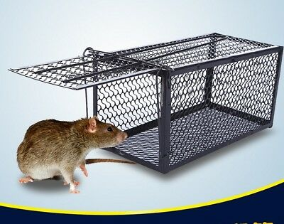 2PCS Rat Catcher Tool Cage Trap Spring Live Animal Rodent Indoor Outdoor NEW