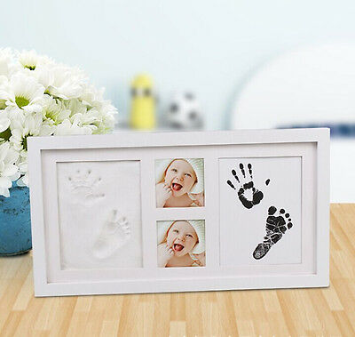 baby hand and foot print set 2D and 3D photo frame newborn unique souvenir gift