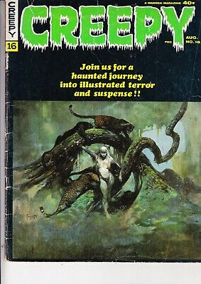 Creepy  No 16  James Warren    Cover Frank Frazetta    August 1967