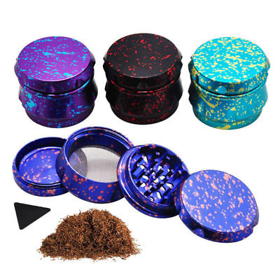 "1 X Crusher Drum 2.5"" 4 Layers Tobacco Herb Grinder Spice Miller-Blue"