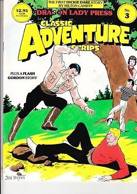 Classic Adventure Strips No 3     September 1985 Flash Gordon Dickie Dare