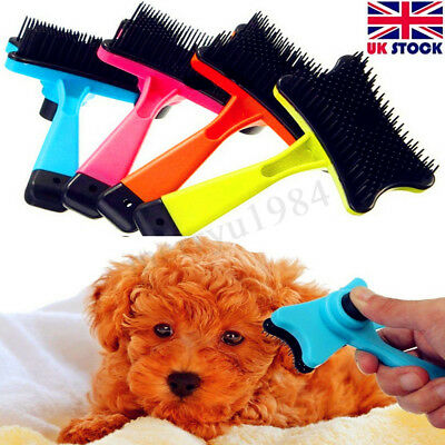 Pet Brush Dog Cat Puppy Hair Grooming Shedding Tool Comb Trimmer Bath Massage !!