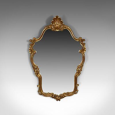 Vintage Wall Mirror, Victorian Rococo Revival Manner, English Late 20th Century