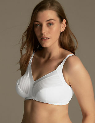 Ex M&S Marks & Spencer Total Support Non Wired Full Soft Cup White Bra 36-44 B-G