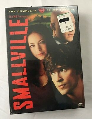 Smallville - Season 3 DVD, 2004, Brand New Sealed! Complete 6-Disc Set ShipsFast