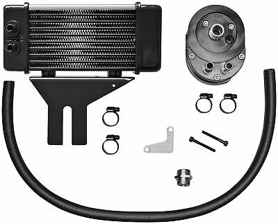 Jagg 750-2580 Horizontal 10 Row Oil Cooler - Low Mount - Chrome