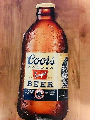 """Coors Banquet beer Tin Wall Hanging Sign 24"""" New  man Cave"""