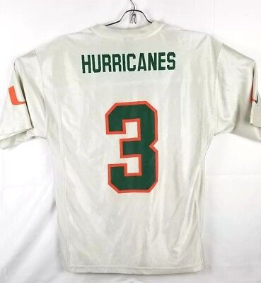 0a810b75c Vintage Starter University of Miami Hurricanes Football Jersey  3 Men  Medium M