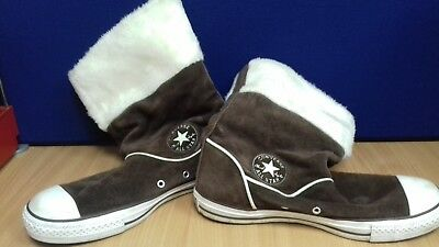 Converse brown suede  boots size 8