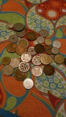 Random Collection Foreign Coins Look Asia Belarus Korea China Ungraded Various