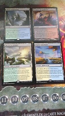 Lot 4 Cartes magic - 4 Land Commander/Modern  - VF - Rare