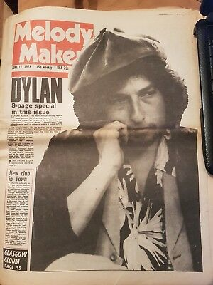 MELODY MAKER 72 page Newspaper June 17th 1978  Bob Dylan 8 page special