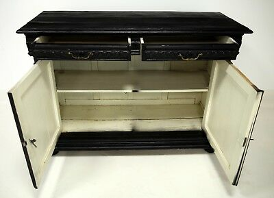 Victorian Sideboard Heavily Carved And Painted Black FREE Nationwide Delivery