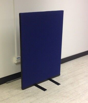 700W x 1000H Blue Woolmix PanelWarehouse Office Screen Divider Partition