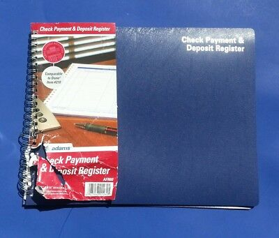 adams check payment and deposit register 8 5 x 11 inches white