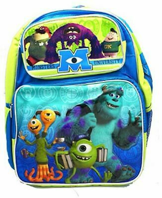 """Monsters University Mike and Sully Large 16"""" Cloth Backpack Book Bag Pack"""