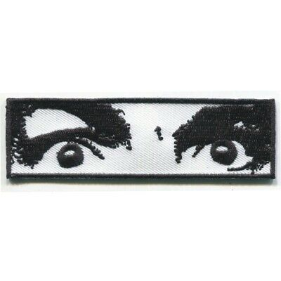 CHARLES MANSON EYES embroidered Patch - Helter Skelter- Iron On - FREE SHIPPING!